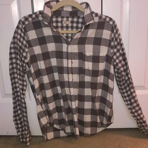 White and Grey Checkered Flannel